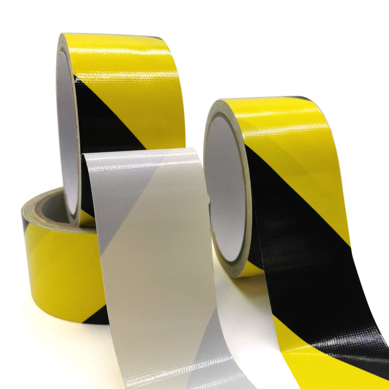Single Sided Yellow Black 300um Self Adhesive Hazard Tape